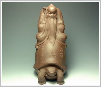 紫砂壶图片:龟高寿长 送长辈 - 宜兴紫砂壶网