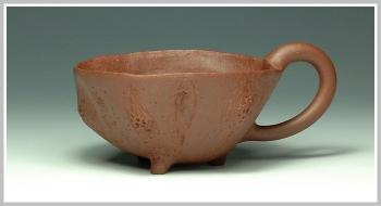 紫砂壶图片:全手花塑品茗杯 精品 - 宜兴紫砂壶网