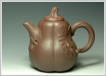 紫砂壶图片:南瓜 - 宜兴紫砂壶网