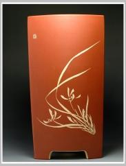紫砂壶图片:长四方花盆1 - 宜兴紫砂壶网