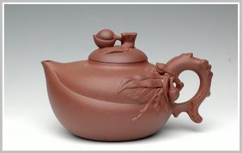 紫砂壶图片:大品寿桃 - 宜兴紫砂壶网