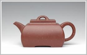 紫砂壶图片:全手工清水泥点砂之长乐 - 宜兴紫砂壶网