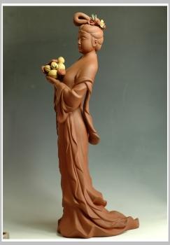 紫砂壶图片:新作麻姑献寿 - 宜兴紫砂壶网