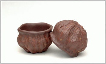 紫砂壶图片:刘景-莲蓬杯 40cc - 宜兴紫砂壶网