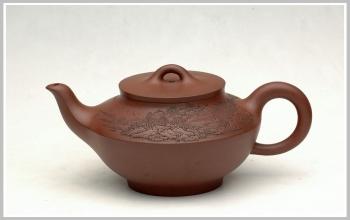紫砂壶图片:通转山水之包嘴合欢 - 宜兴紫砂壶网