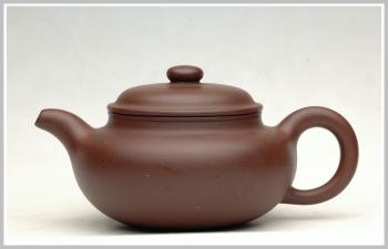 紫砂壶图片:全手一捺底刹瓦成型之仿古 - 宜兴紫砂壶网