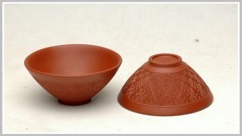 紫砂壶图片:黄金朱泥斗盏杯 - 宜兴紫砂壶网