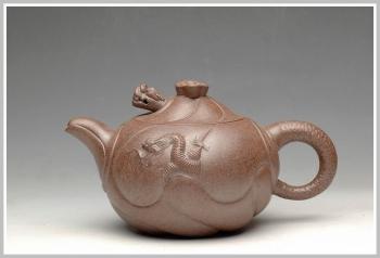 紫砂壶图片:窑变之美 鱼化龙 - 宜兴紫砂壶网