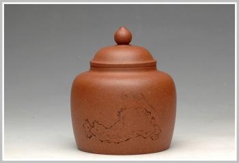 紫砂壶图片:清雅刻鸟茶叶罐 精致 可人 - 宜兴紫砂壶网