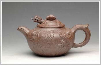 紫砂壶图片:窑变之美 云龙 - 宜兴紫砂壶网