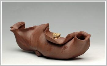 紫砂壶图片:荷塘清趣 - 宜兴紫砂壶网