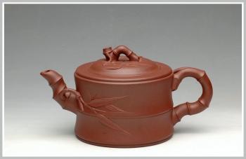 紫砂壶图片:花货实用佳品 竹段 - 宜兴紫砂壶网