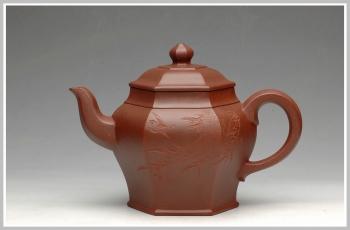 紫砂壶图片:史金妹代表作品 全手六方聚福 - 宜兴紫砂壶网