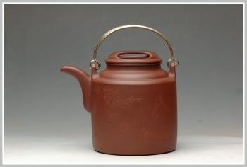 紫砂壶图片:饱满匀称 全手演绎洋桶 - 宜兴紫砂壶网