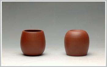 紫砂壶图片:几个优质好料手工杯 红皮龙 段泥 紫泥 朱泥 - 宜兴紫砂壶网