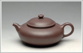 紫砂壶图片:优质青灰泥 线条灵动 圆珠 - 宜兴紫砂壶网