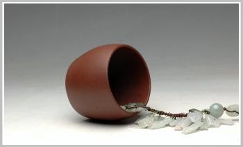 紫砂壶图片:优质地槽青 全手鼓型单杯 圆润 稳如山 - 宜兴紫砂壶网