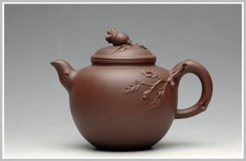 紫砂壶图片:饱满可人之秋硕 - 宜兴紫砂壶网
