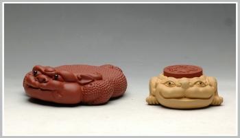 紫砂壶图片:壶托和盖托 - 宜兴紫砂壶网