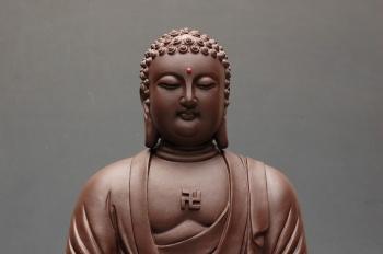 紫砂壶图片:法相庄严 坐佛 - 宜兴紫砂壶网