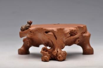 紫砂壶图片:刘景 猴子盖托 妙手雅玩 - 宜兴紫砂壶网