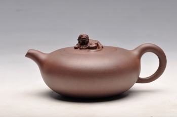 紫砂壶图片:优质紫泥 线条优美 实用之品  旺龙 - 宜兴紫砂壶网