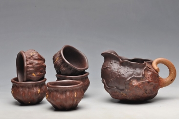 紫砂壶图片:刘景 新荷叶公道 - 宜兴紫砂壶网