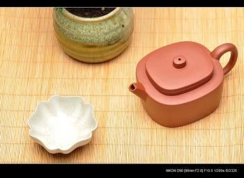 紫砂壶图片:亦圆亦方 平盖腰圆  质朴无华 老青水泥 - 宜兴紫砂壶网