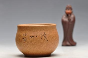 紫砂壶图片:坐佛造像 洗心~~  文雅清韵  缸杯 - 宜兴紫砂壶网