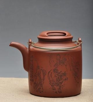 紫砂壶图片:耐品 神骏逸品 全手工洋桶 - 宜兴紫砂壶网