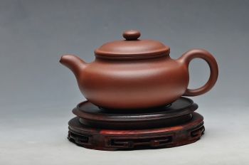紫砂壶图片:精美的一把好仿古 砂料非常漂亮 - 宜兴紫砂壶网
