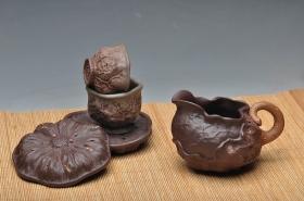 紫砂壶图片:刘景-荷叶公道杯 - 宜兴紫砂壶网