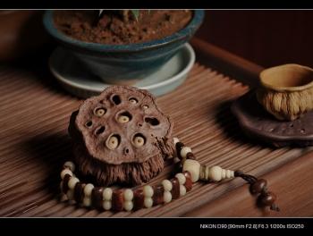 紫砂壶图片:《心心相莲》第三代作品——枯莲蓬茶宠 段泥 - 宜兴紫砂壶网