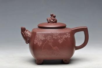 紫砂壶图片:闲然别致 生动可爱 鱼龙壶 - 宜兴紫砂壶网