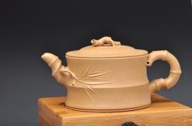 紫砂壶图片:经典代表作 大竹段 - 宜兴紫砂壶网