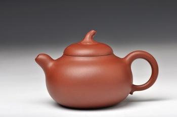 紫砂壶图片:饱满精神  茄段 田园情趣 优质底槽青 - 宜兴紫砂壶网