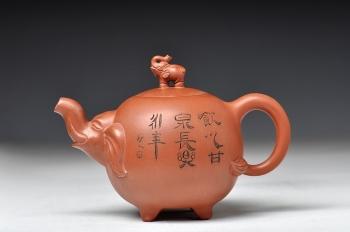 紫砂壶图片:四足福象(十足福像) - 宜兴紫砂壶网