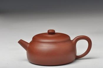 紫砂壶图片:杀茶利器 适合绿茶 全手润泉 - 宜兴紫砂壶网