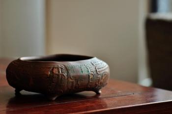紫砂壶图片:全手作品 文房雅玩之养心水洗 笔洗 造型古拙 - 宜兴紫砂壶网