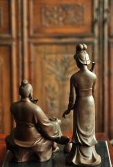 紫砂壶图片:爱情和事业的传奇  范蠡西施    王健精品新作 最称职的'财神' - 宜兴紫砂壶网