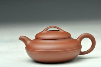 紫砂壶图片:优质青水泥 线圆 传统实用 经典小品 - 宜兴紫砂壶网