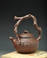 紫砂壶图片: 丰收提梁 - 宜兴紫砂壶网