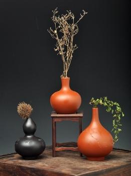 紫砂壶图片:文房雅玩之小花瓶 造型可爱新颖~ 均是单个~ - 宜兴紫砂壶网