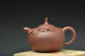 紫砂壶图片:蔡一强新作和合 造型新颖 送礼佳作 - 宜兴紫砂壶网