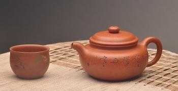 紫砂壶图片:器形端庄 优质降坡泥 颇有玩味~ 全手仿古 - 宜兴紫砂壶网