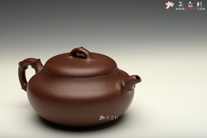 紫砂壶图片:油润底槽青 精品花货  丹竹 敦厚可人 大口实用 - 宜兴紫砂壶网