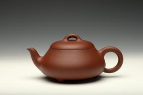 紫砂壶图片:张弛有度 工整温润 汉棠石瓢 - 宜兴紫砂壶网