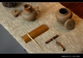 紫砂壶图片:美壶特惠 茶盘必备竹韵小套组 茶拨 茶荷 茶针 盖托 竹漏 - 宜兴紫砂壶网