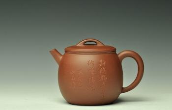 紫砂壶图片:和石装饰  全手米仓 实用精品 - 宜兴紫砂壶网