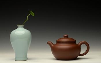紫砂壶图片:邵春良最新作品 光素柔和 质朴大方 全手莲子 - 宜兴紫砂壶网